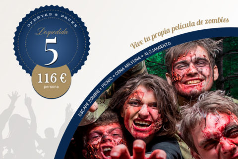 5 – Escape Zombie + Picnic + CenaMilyuna + Alojamiento